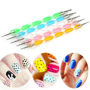 5 double diy ended ball stylus diy kit 4 nail art clay paper and image is loading 5 double diy ended ball stylus diy kit prinsesfo Image collections