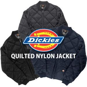 Dickies-Diamond-Quilted-Nylon-Jacket-Men-039-s-Zip-Up-Fleece-Lined-Style-61242