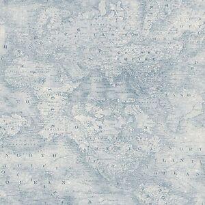 smita-Papel-pintado-ht17183-HIT-THE-ROAD-mapa-del-mundo-Atlas-Tarjeta-Azul