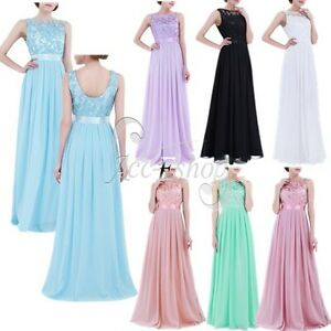 Chiffon-Women-Long-Evening-Formal-Party-Cocktail-Bridesmaid-Prom-Ball-Gown-Dress