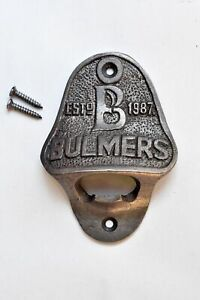 Vintage style cast iron Bulmers bottle opener cider wall mounted opener