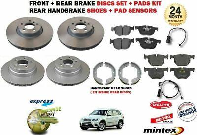 REAR BRAKE PADS SET FOR BMW X5 E70 2006-2013 NEW FRONT WARNING SENSOR KIT