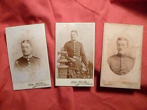 PHOTOGRAPHIES-ANCIENNES-militaires-allemands-fin-XIXe-XXe-CDV-Photo-Berlin
