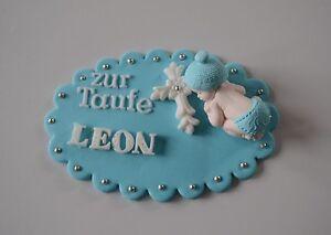 Baby Taufe Geburt Tortendeko Zuckerfigur Fondant Kuchen Ebay