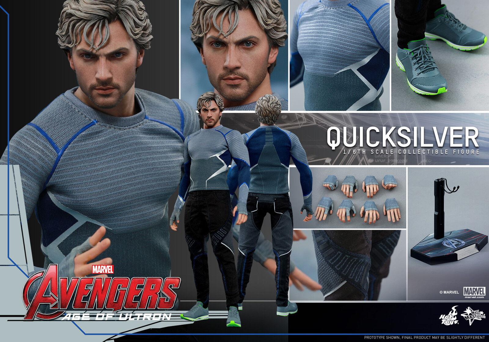 1 6 Hot Juguetes MMS302 Los Vengadores Pietro Maximoff QuickPlata 12  Figura De Acción Nueva