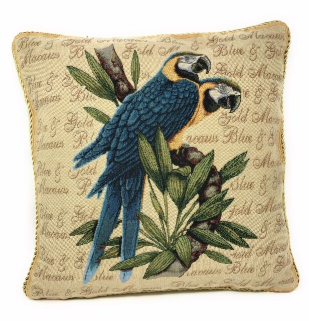 18-Inch DaDa Bedding DP-156 Parrot in Love Woven Decorative Pillow