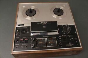 Sony-TC-377-Tonbandgeraet-Tonbandmaschine-Tapecorder-inklusive-Holzbox-komplett