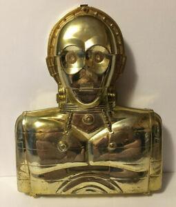 Vintage-Star-Wars-Kenner-1983-C3-PO-Action-Figure-Case-w-5-Inner-Strap-Bars
