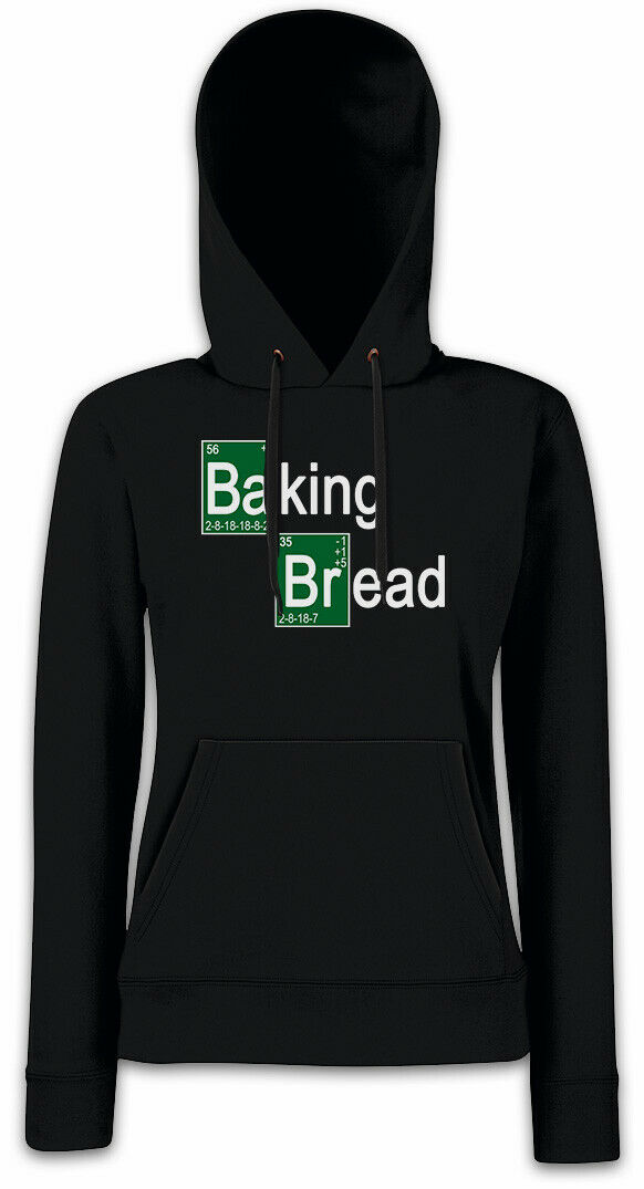 BAKING BREAD II Damen Hoodie Sweatshirt Breaking Brot Koch Fun Baker Bad | Verpackungsvielfalt