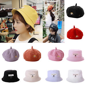 Women-Girl-Summer-Cute-Peaked-Hat-Beret-Bonnet-Cap-Bucket-Cap-Casual-Decor-Gifts