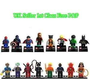 16pcs-Marvel-DC-Super-Hero-Avengers-mini-figure-Minifigure-made-fits-Lego