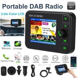 Portatile USB Auto Digitale Radio DAB+DAB Ricevitore Bluetooth Colori LCD