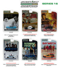 HOLLYWOOD SERIES / RELEASE 16, SET OF 6 CARS 1/64 DIECAST BY GREENLIGHT 44760