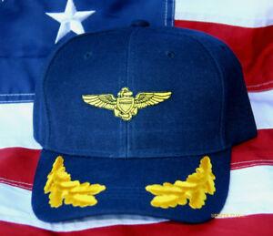890b9c9d84c VIP US NAVAL AVIATOR PILOT WING HAT PATCH NAVY WOWNH USS TOP GUN PIN ...