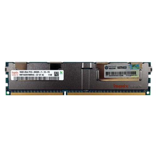 HP 500207-071 500666-B21 501538-001 16GB 4Rx4 DDR3 PC3-8500R REG DIMM MEMORY RAM