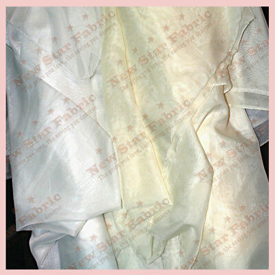 "75 Yards Ivory Chiffon Sheer Draping Fabric 60/"" Wide 100/% Polyester Wedding"