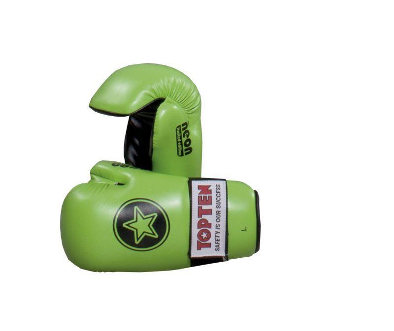 TOP TEN Semikontakt Handschuhe OPEN HANDS Point Fighter