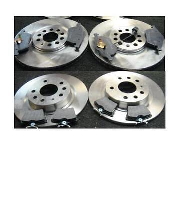 VW Passat 1.9 TDI 1997-2005 Rear Brake Solid Discs /& Pads Braking Kit 245mm Ø