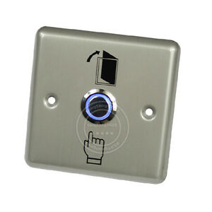Stainless-Steel-Exit-Release-Button-Push-Switch-with-Blue-LED-for-Access-Control