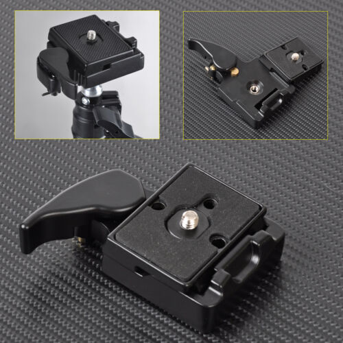 Black Camera Tripod Quick Release Plate 1.5x2 inches Mount Adapter Set
