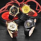 WINNER Luxury Skeleton Automatic Mechanical Rhinestone Men Women Wrist Watch