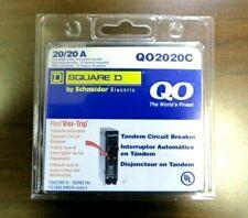 Square D Schneider Qo 20 Amp 1 Pole Tandem Circuit Breaker Qo2020c New