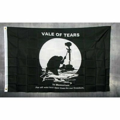 Vale of Tears Flag Banner Sign 3/' x 5/' Foot Polyester Grommets