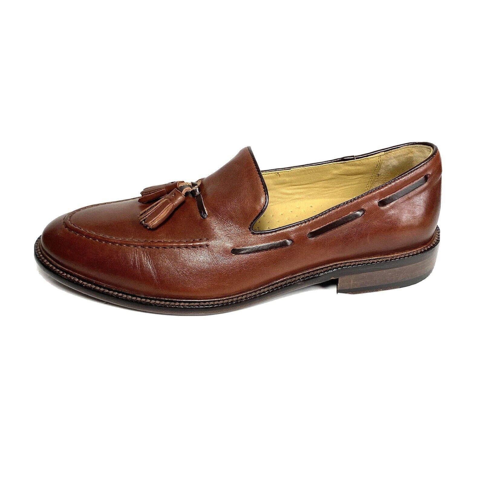 Johnston Murphy Men's Tassel Loafers Brown SheepSkin Leather Size 8.5 M