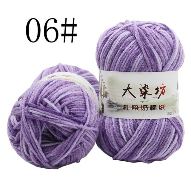 3a84f1055781 1 Skeinx50g Natural Smooth Super Soft Cotton Hand Dyed Knitting Yarn ...