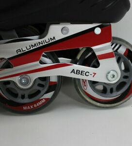 Gelegenheit-HySports-RED-Black-Speed-Inline-Skates-Herren-ALU-Groesse-42-9256