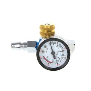 1-4-039-039-BSP-HVLP-Spray-Gun-Air-Regulator-Tool-Pressure-Gauge-Diaphragm-Control
