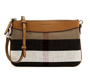 Bruin Peyton Nieuw Burberry Check Canvas Crossbody 5ul1J3KTFc