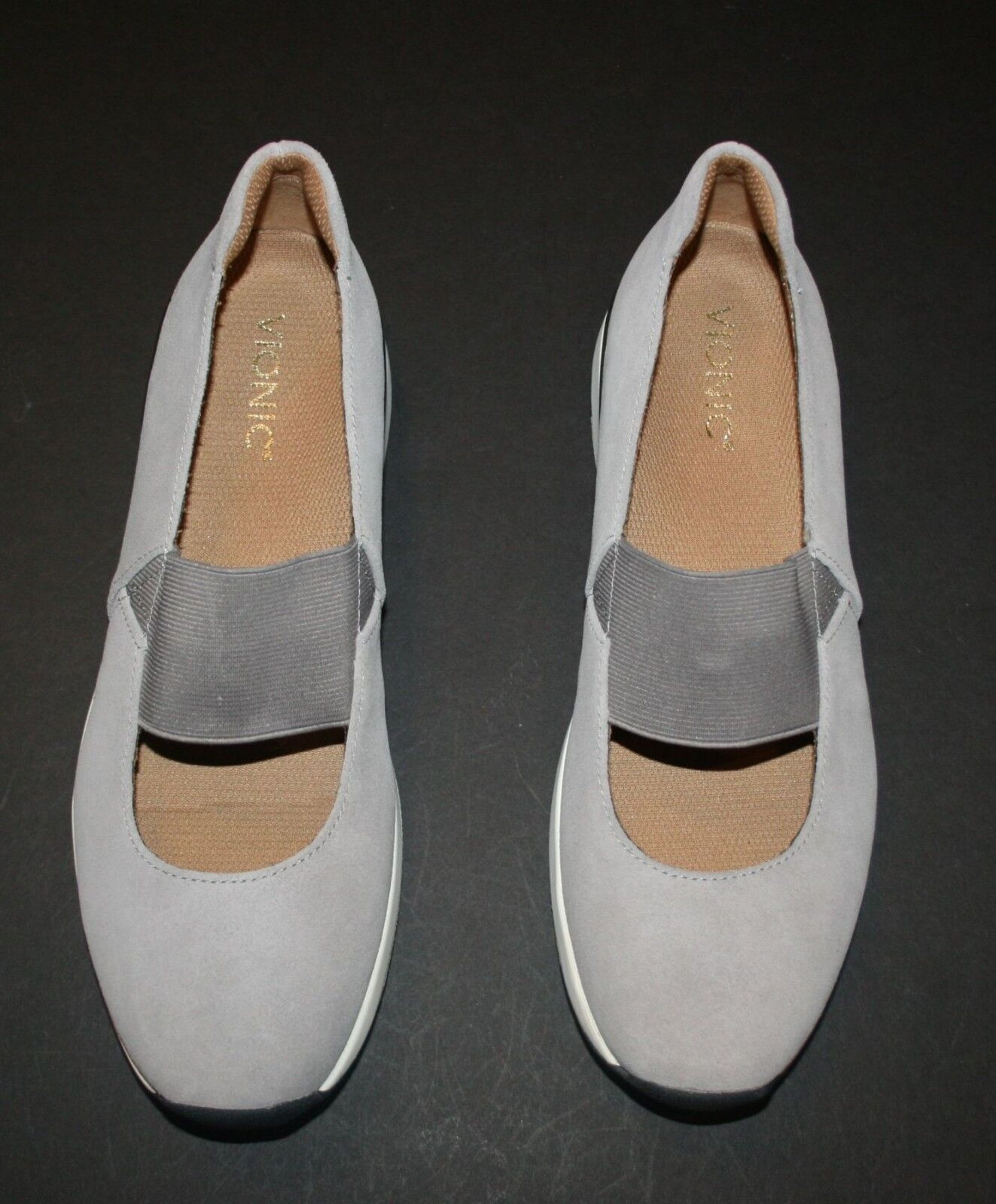 New Vionic Women's Cosmic Cadee Mary-Jane Light Grey 10 M US NIB Slip On