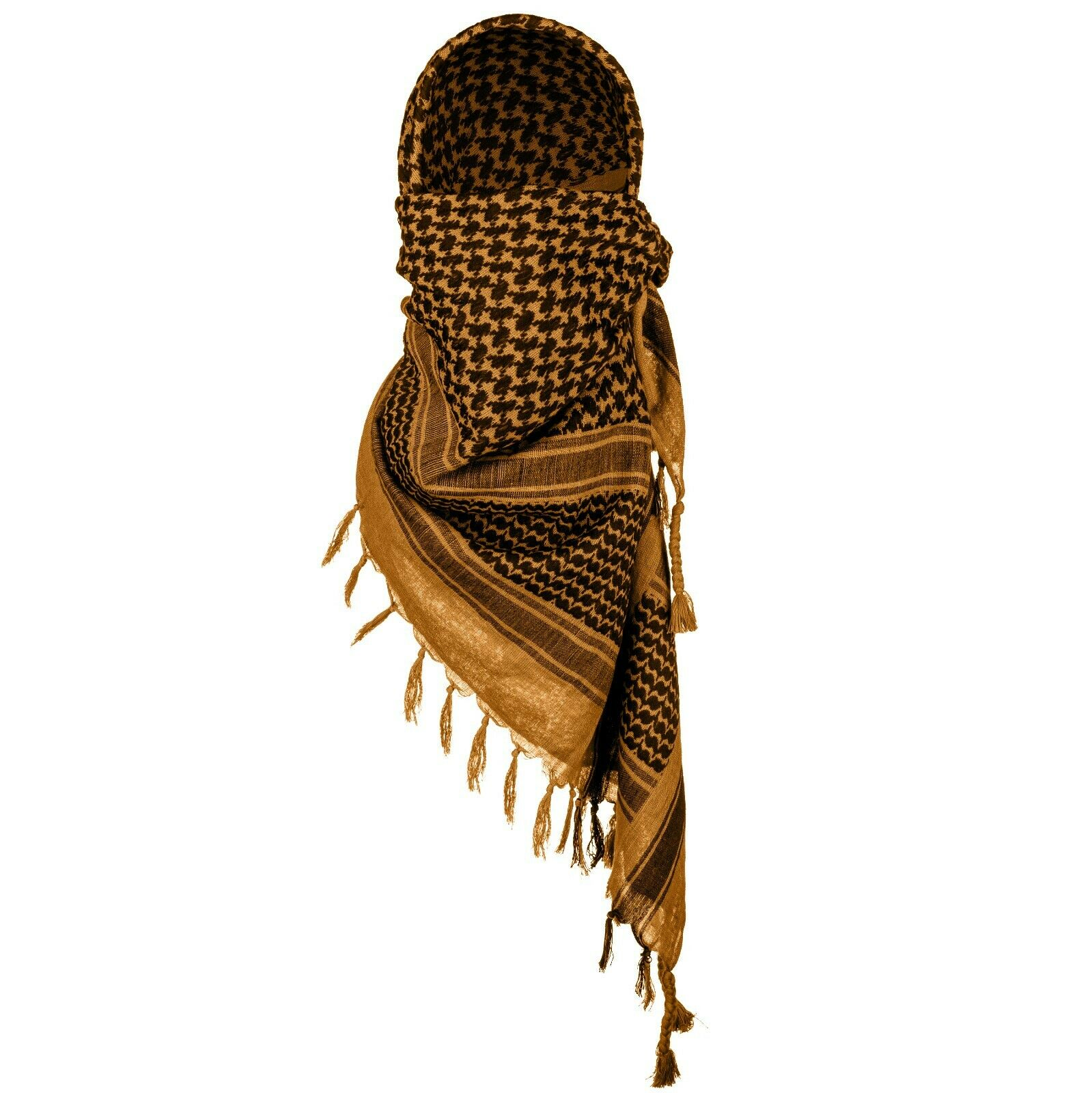 Mora Premium Shemagh Scarf Large 100/% Cotton Arab Tactical Military Desert Head Neck Keffiyeh Wrap with Tassels