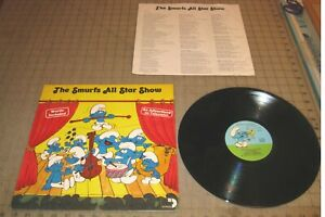1981 THE SMURF'S ALL-STAR SHOW 33rpm LP RECORD - As Seen on TV!