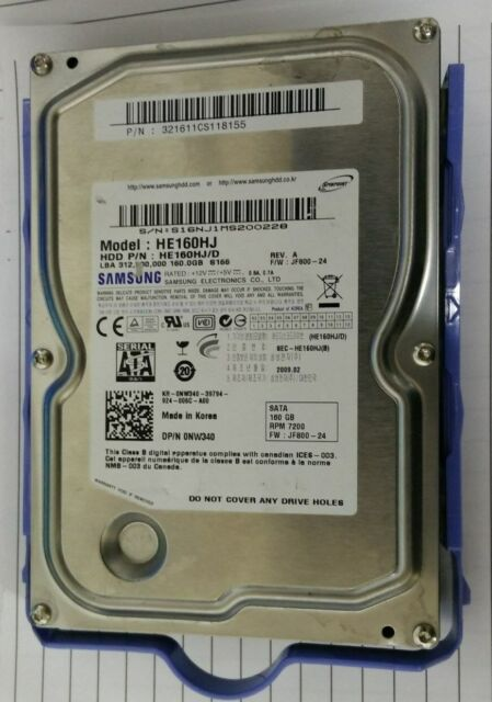 "Dell NW340 160GB 7.2K RPM SATA 3.5"" Hard Drive (Samsung HE160HJ/D) - NEW"