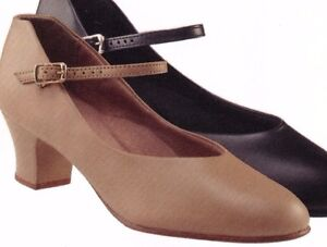 """NEW//BOX Character Shoes ch//ladies BLK #3504 Leathersole 1.5/"""" heel Musicaltheater"""
