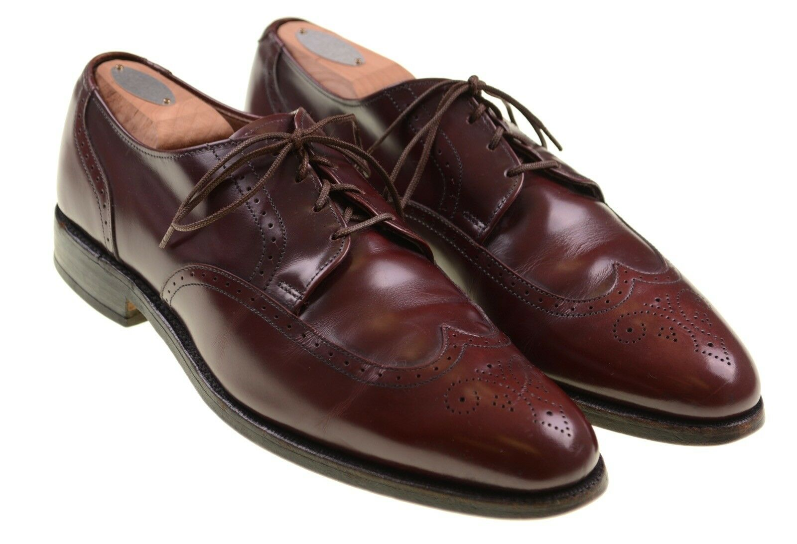 Allen Edmonds Kingswood Burgundy Maroon Leather Wingtip Brogue Dress shoes 9 C