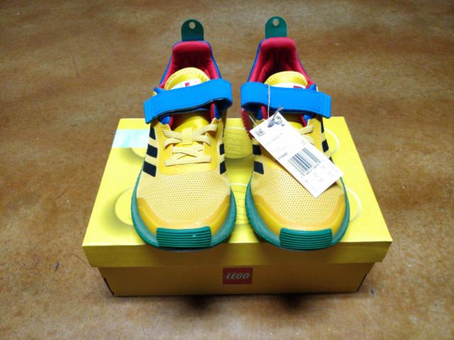 adidas X Lego Sport Shoe Sneaker Yellow Blue Black FY8440 Kids US Size 3
