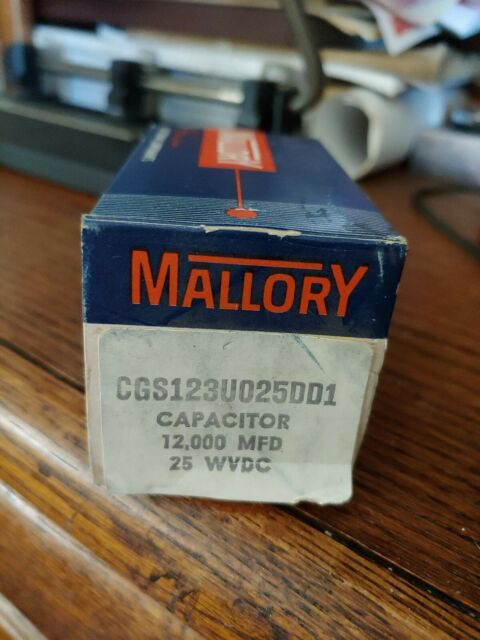 Mallory 30000U25 30000 MFD 25 VDC Max Surge 30 VDC Capacitor