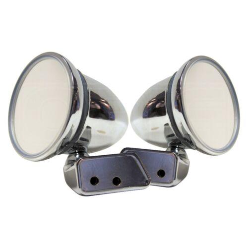 Chrome Bullet Mirror - Mountney CMFM-R - with Austin Mini Door Mounting - Pair