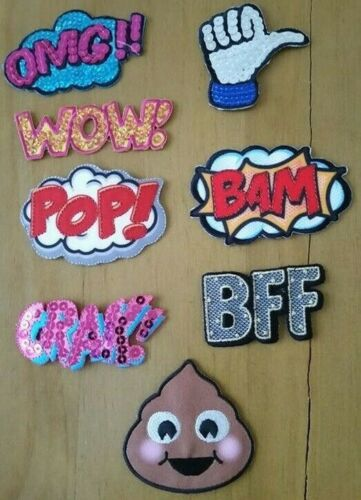 Free Post POP THUMBS UP BFF 1 x OMG POO From 5cm To 7cm IRON ON PATCH