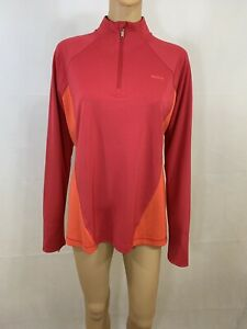 Reebok-Women-039-s-Play-Dry-Violet-Red-Zip-Up-Running-Athletic-Long-Sleeve-Top-XL