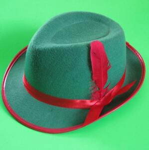 24e6e2272d8 Image is loading Adult-GREEN-Alpine-Felt-Costume-Accessory-Hat-Oktoberfest-