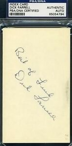 Turk Farrell Psa/dna Signed 3x5 Index Card Autograph Authentic