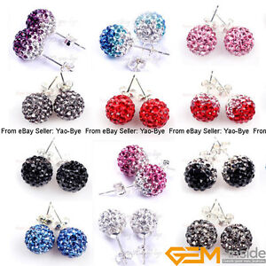 Image Is Loading 10mm Colorful Sparkle Clay Rhinestone Cz Crystal Pave