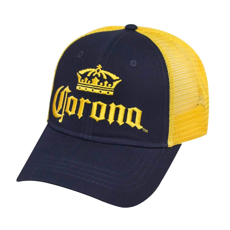 Corona Extra Blue & Yellow Mesh Snapback Hat Blue Extra cd058d
