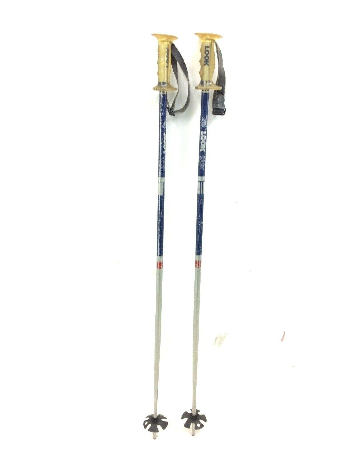 "Vintage Pair Used Look 9002 High  Impact Aluminum Downhill Mens 49"" Ski Poles  the newest"