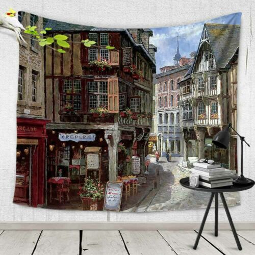 Euro Street Pattern Hanging Wall Carpet Tapestry Rectangle Decorative Tapestries