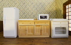 Image Is Loading 1 12 Dollhouse Furniture Kitchen Facility Cabinet  Refrigerators